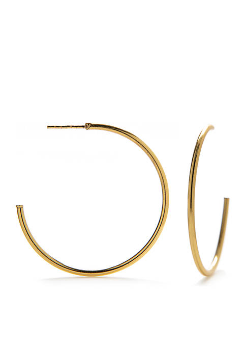 Belk Silverworks Gold-Plated Hoop Earrings