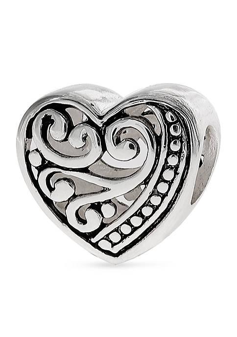 Belk Silverworks Oxidized Filigree Heart Originality Bead