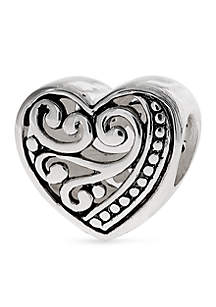Oxidized Filigree Heart Originality Bead
