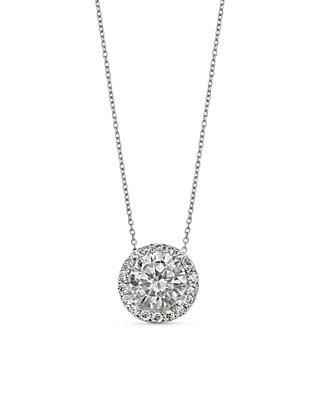 48463c2d23c Belk Silverworks. Belk Silverworks Simply Sterling Round Pave Cubic  Zirconia Pendant Necklace