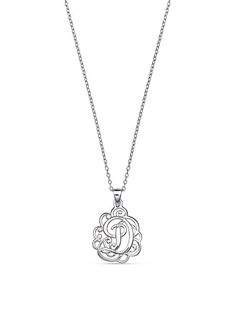 Sterling Silver Polished Monogram Pendant