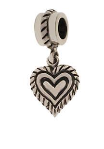 Belk Silverworks Heart Drop Originality Charm