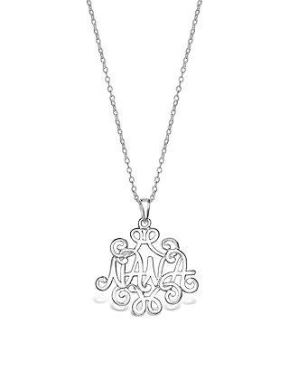 bb528cb5871 Belk Silverworks. Belk Silverworks Sterling Silver Polished Nana Monogram  Pendant Necklace