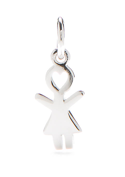 Southern Charm Sterling Silver Girl Charm