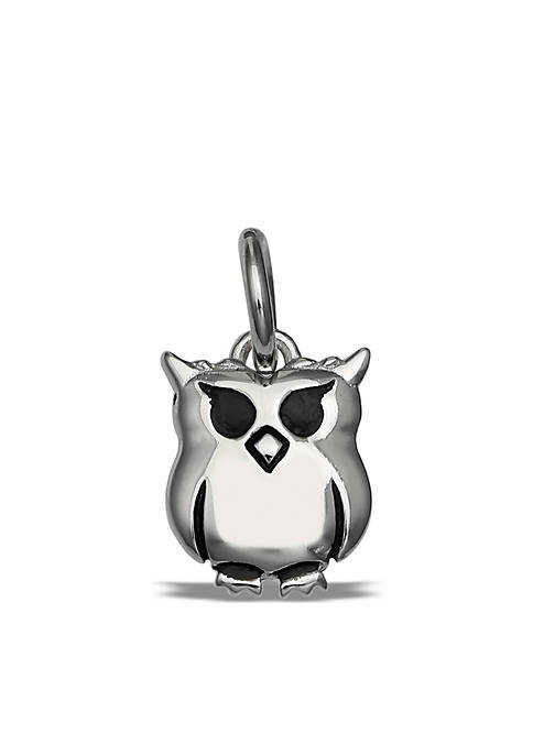 Southern Charm Sterling Silver Polished Owl Charm