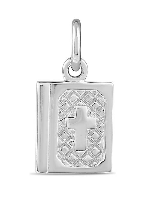 Southern Charm Sterling Silver Polished Bible Charm