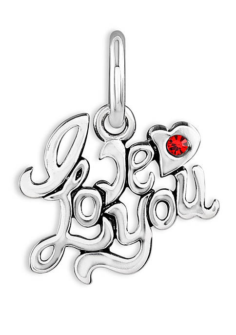 Belk Silverworks Southern Charm Love You Red Cubic