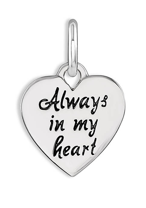 Southern Charm Always In My Heart Charm