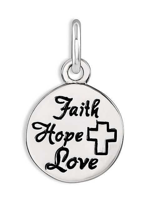 Southern Charm Faith Hope Love Charm