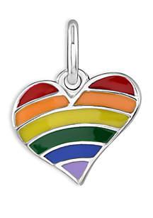 Belk Silverworks Southern Charm Rainbow Heart Plated Charm