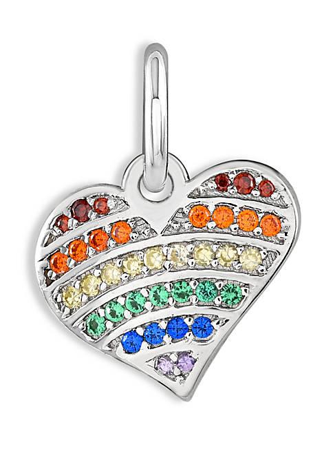 Belk Silverworks Southern Charm Rainbow Cubic Zirconia Heart
