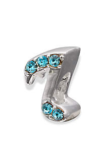 Sterling Silver Blue Crystal Music Note Originality Bead