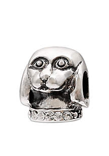 Sterling Silver Crystal Dog Originality Bead