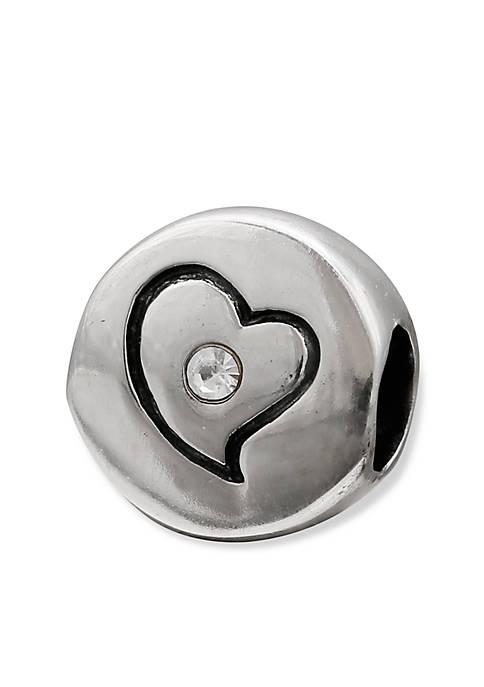 Belk Silverworks Sterling Silver Round Crystal Heart Originality
