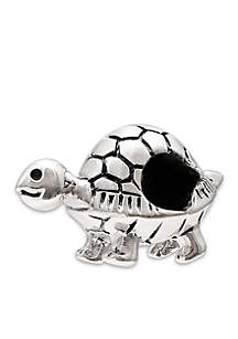 Sterling Silver Oxidized Turtle Originality Bead