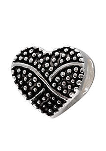 Oxidized Beaded Heart Originality Bead