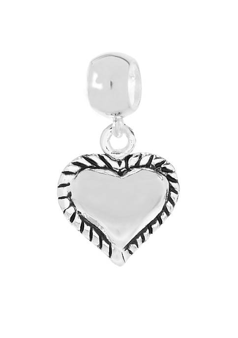 Belk Silverworks Drop Heart Originality Bead