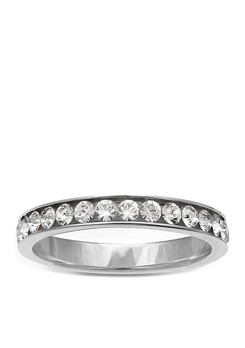 Belk Silverworks Simply Sterling Silver Cubic Zirconia Band