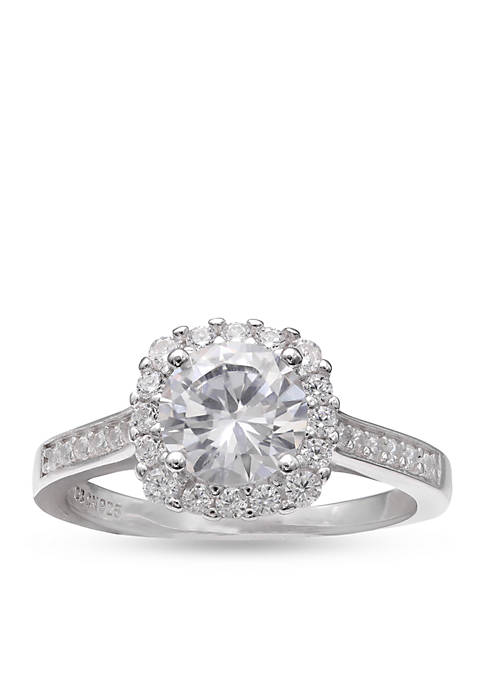 Simply Sterling Silver Cubic Zirconia Ring