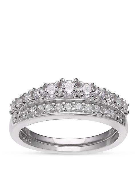 Belk Silverworks Simply Sterling Silver Cubic Zirconia Wedding