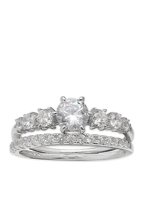 Belk Silverworks Sterling Silver Cubic Zirconia Ring