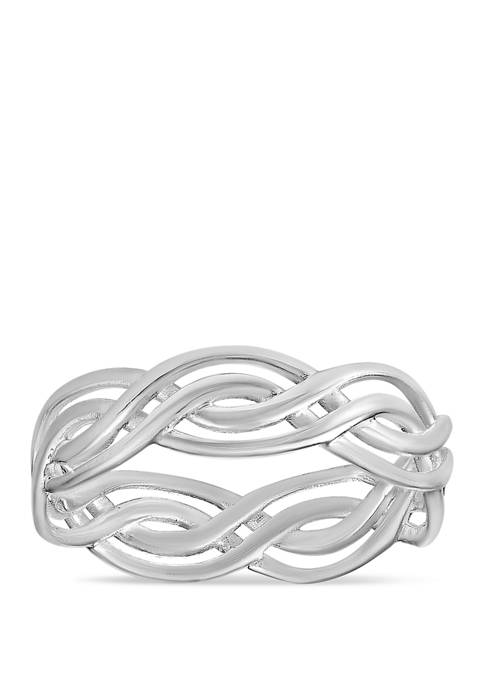 Belk Silverworks Polished Braided Band Ring