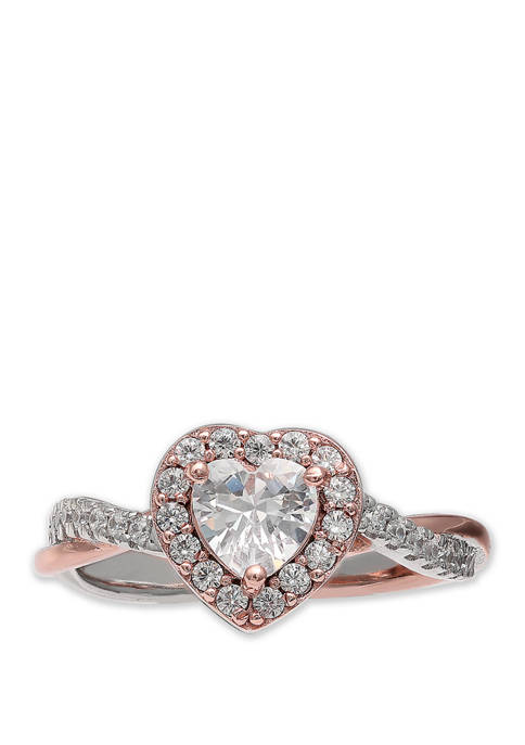 Belk Silverworks Sterling 2 Tone with Rose Pavé