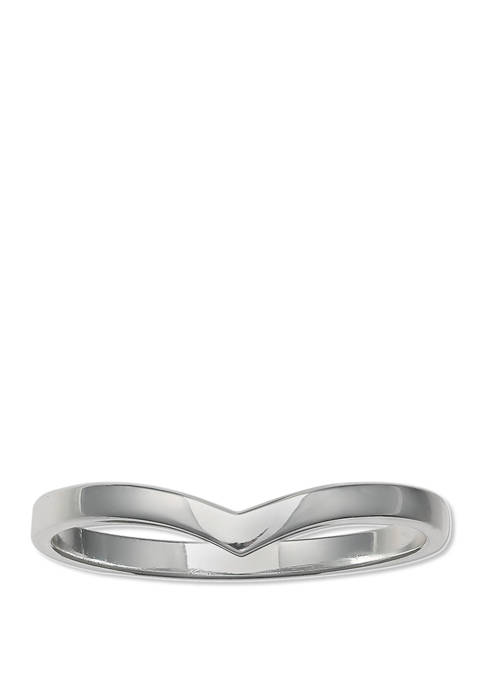 Belk Silverworks Polished V Shape Band Ring