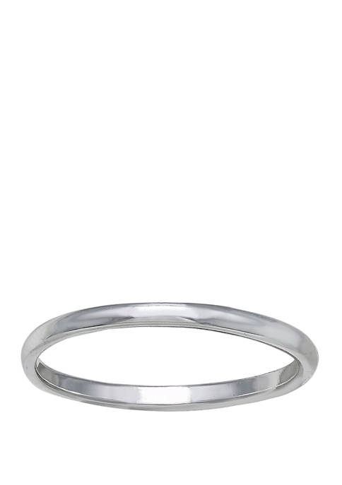 Belk Silverworks Polished Plain Ring in Sterling Silver