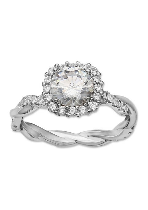 1.85 ct. t.w. Cubic Zirconia Twisted Band Ring in Sterling Silver