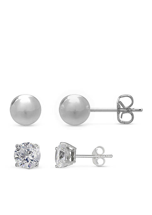 Belk Silverworks Simply Sterling Silver Duo Ball and