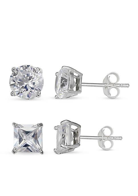 Belk Silverworks Simply Sterling Silver Duo Cubic Zirconia