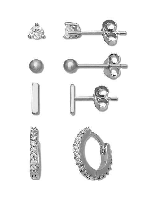 Cubic Zirconia Earrings Set