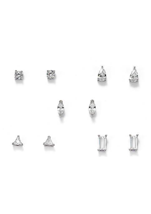 Set of 5 Cubic Zirconia Earring Set