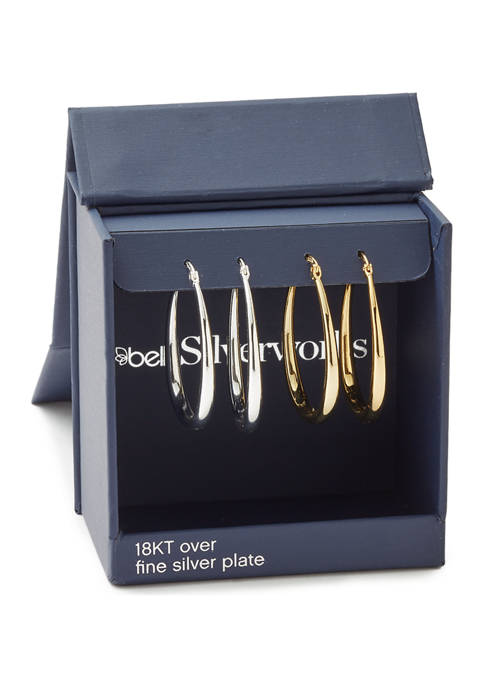 Oval Hoop Earring Set