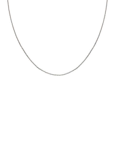 Belk Silverworks Silver-Tone Sparkle Chain Necklace