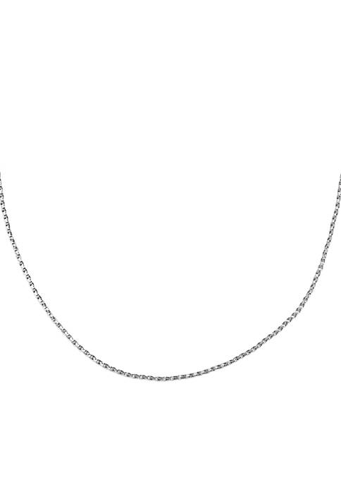 Belk Silverworks Sterling Silver Twisted Box Chain Necklace