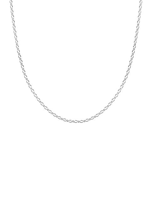 Belk Silverworks Silver-Tone Diamond Chain Link Necklace