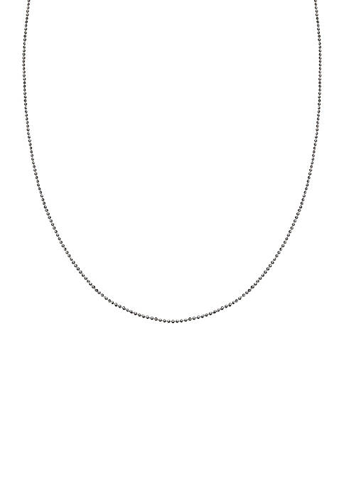Simply Sterling Silver Diamond Cut Bead Chain Necklace