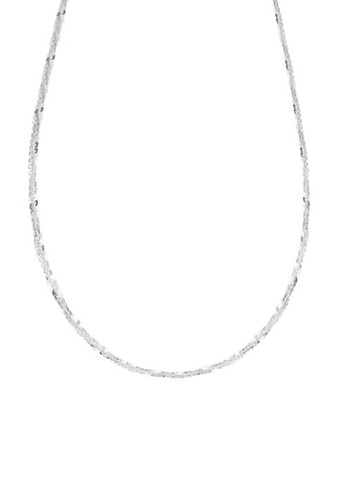 Twisted Diamond Cut Chain Necklace