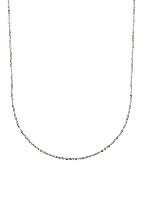 Belk Silverworks Sterling Silver 24-in. Twisted Chain Necklace