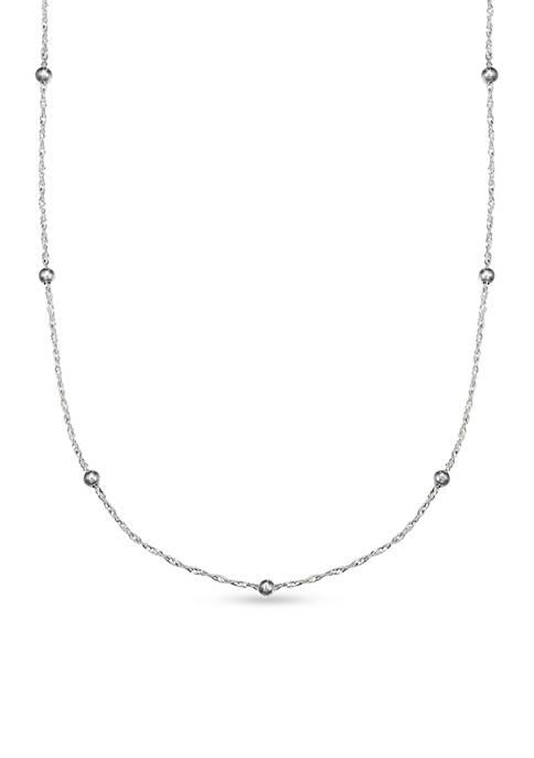 Belk Silverworks Sterling Silver Polished Singapore Bead 18