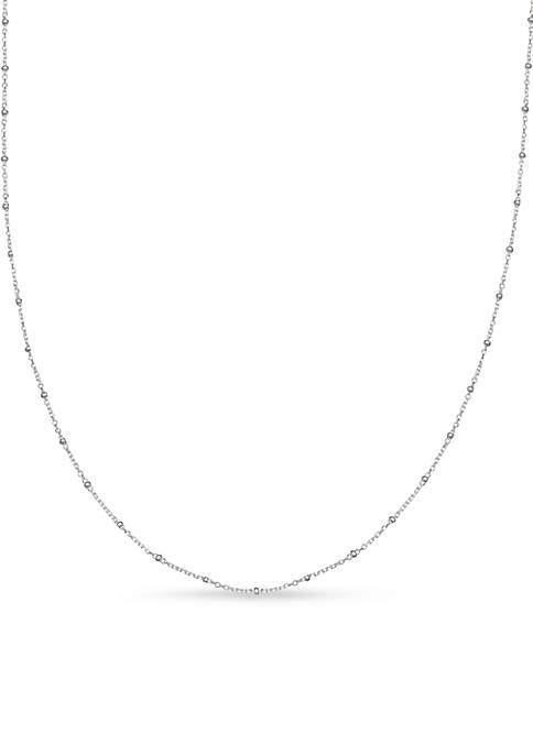 Belk Silverworks Sterling Silver Forzatina Beaded Cable 18-in.