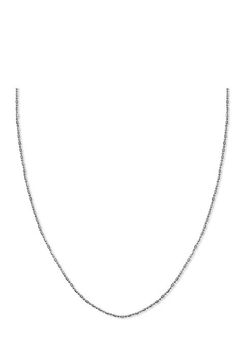 Beaded Chain 18 Inch Necklace