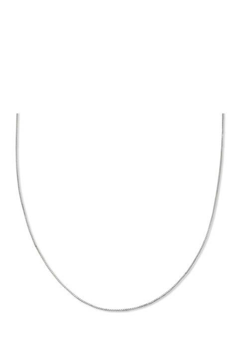 Box Chain 20 Inch Necklace