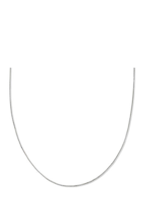 Box Chain 30 Inch Necklace