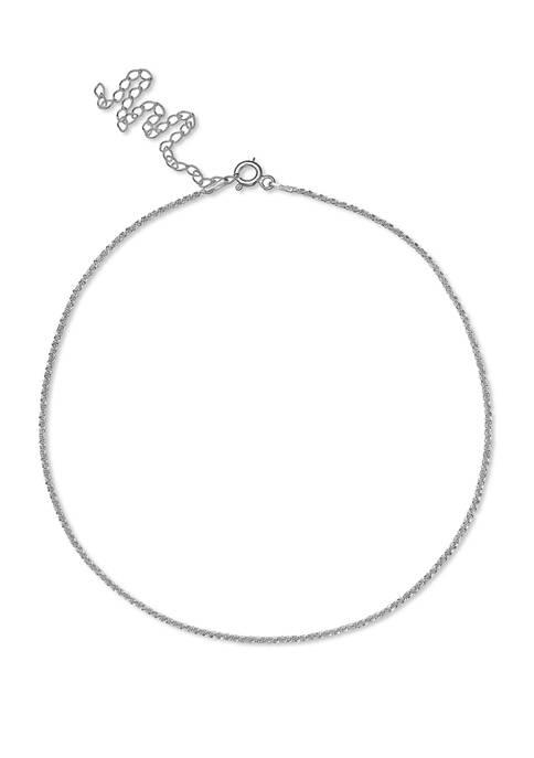 025 Gauge Sparkle Chain Necklace