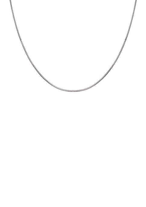 Simply Sterling Silver Round Box Chain Necklace