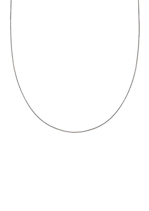 Simply Sterling Silver Diamond Cut Oval Chain Necklace