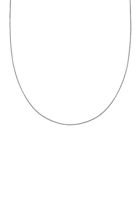 Belk Silverworks Simply Sterling Silver Diamond Cut Oval